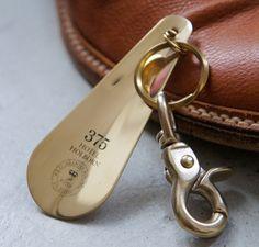 zen-you | Rakuten Global Market: Hotel brass Shoe Horn Key-holder / brass Hotel shoehorn Keychain brass solid antique rust Picus pics shoes shoes shoes shoehorn