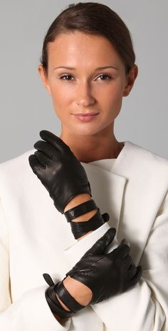 motorcycle gloves on-trend again? sign me up! 3.1 phillip lim, meggie driving gloves, $275.