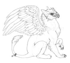 Gryphon Side by VisionCrafterChimera, myth, gryphon #Mythical #Fantasy #Creature mythological chimera,chimera
