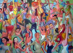"""El baile 5 "", acrylic on canvas, 95 x 130 cm, 2012 Price of original painting: inquire"