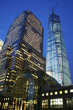 WFC and 1 WTC by robertocordon, via Flickr
