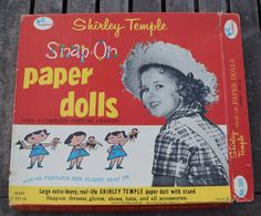 Vintage 1958 Shirley Temple Snap On Paper Dolls Set