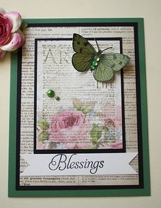 Blessings, via Flickr. Like the text on the patterned paper.