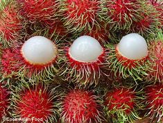 The tropical fruit Rambutan, is one of Asia's best known fruits. The fruit looks slightly strange at first, but the Rambutan flesh is succulent and sweet.