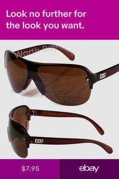 5db7d0a6fe New Mens DG Shield Fashion Wrap Designer Sunglasses Shades Retro Vintage  Brown
