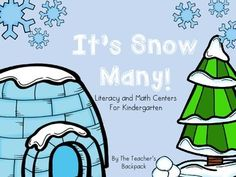It's Snow Many! Literacy and Math Activities for Kindergarten 4.50