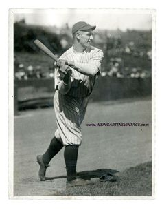 1923-24 Original type 1 Lou Gehrig  photo by Charles Conlon.www.weingartensvintage.com to view collection. Always buying high end type 1 photo of Ruth and Gehrig!