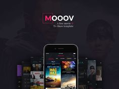 MOOOV Movie & TV Show App UI Kit Ui Kit, Tv Streaming, App Ui, App Design, Movie Tv, Tv Series, Tv Shows, Cinema, Graphic Design