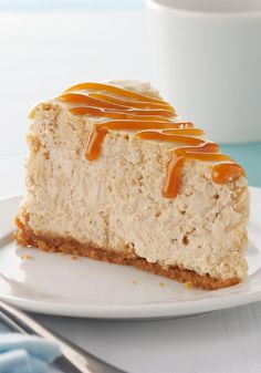 Rice Pudding Cheesecake -- This delicious dessert recipe--topped with cajeta caramel--takes just 15 minutes to prepare!