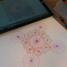 Meditation through Geometry, courtesy of @ambigraph. #geometrytherapy #meditation #sarcedart #geometry ##construction #ruler #compass #mygeometryseries