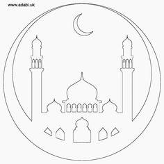 Mosque free printable colouring page , ADaBi books, ADaBi London Eid Crafts, Ramadan Crafts, Decoraciones Ramadan, Princesa Jasmine, Ramadan Activities, Islam For Kids, Islamic Art Calligraphy, Free Printable Coloring Pages, Free Printables