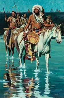 View Crow Delegation By David Mann; Access more artwork lots and estimated & realized auction prices on MutualArt. Native American Girls, Native American Pictures, Native American Quotes, American Indian Art, Native American History, American Indians, American Symbols, American Women, Native American Paintings