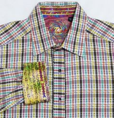 A wonderfully colored shirt from Robert Graham that is great to show off on a night on the town.