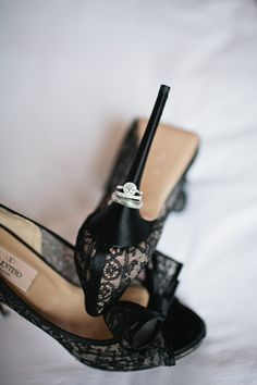 Gorgeous rings and lacy Valentinos Photography by brookelynphotography.com