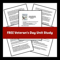 FREE Veteran's Day Unit Study - Frugal Homeschool Family