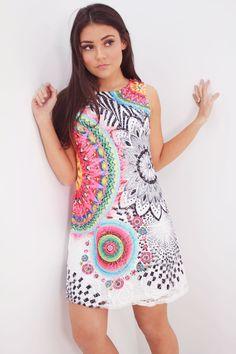 Verona printed shift dress