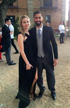Arbeloa and his wife Carlota @ Nacho's wedding...