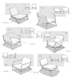 process design idea of the Lounge Chair by Matthew Choto, via Behance. Design Lounge, Design Loft, Id Design, Sketch Design, Chair Design Wooden, Design Furniture, Plywood Furniture, Bedroom Furniture, French Furniture