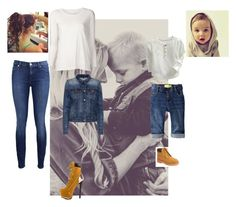 """""""mom and son!♥"""" by clf2000 ❤ liked on Polyvore featuring ZIGIgirl, Old Navy, Timberland, 7 For All Mankind, Raquel Allegra and J Brand"""