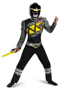 Power Rangers Dino Charge Black Ranger Muscle Child Costume - 355660   trendyhalloween.com #trendyhalloween