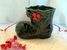 Lefton Christmas Holly Boot  / Lefton Holly by VintageLoversShop, $10.00