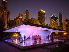Burnham Pavilion, 2009 by UNStudio  Loop community area of Chicago, Illinois.   http://en.wikipedia.org/wiki/Burnham_Pavilions
