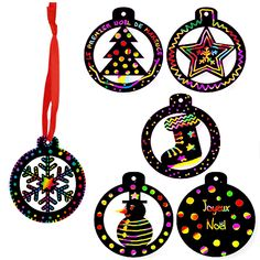 Boules de Noël en carte à gratter Christmas Art, Xmas, Children's Church Crafts, Sunday School Crafts, Kids Church, Crafts For Kids, About Me Blog, Homemade, How To Make