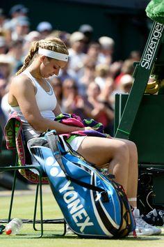 Sabine Lisicki lost 6-1, 6-4 to Marion Bartoli  - The Championships - Wimbledon 2013. Sabine 'was frequently driven to tears by Bartoli's dominance'. Day Twelve