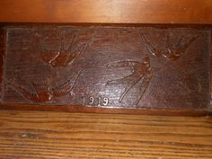 Old Antique Wooden Carved Oak Panel Decorative Plaques Swallows Arts Crafts  | eBay