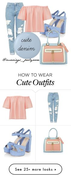 """cute denim"" featuring Topshop, Deborah Lippmann and Rebecca Taylor Komplette Outfits, Spring Outfits, Fashion Outfits, Womens Fashion, Fashion Trends, School Outfits, Grunge Outfits, Fasion, Fashion News"