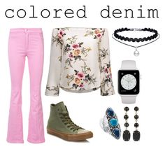"""""""Flower Child"""" by mountain-girl-lynn on Polyvore featuring Givenchy, Converse, Palm Beach Jewelry, Melissa Joy Manning and coloredjeans"""