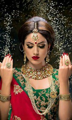 Asian Bridal Makeup Artist London - Indian Bridal Hair and Makeup Indian Bridal Makeup, Asian Bridal, Indian Bride Hair, Moda India, Wedding Make Up Inspiration, Pakistani Bridal Dresses, Braut Make-up, Exotic Women, Indian Wedding Photography