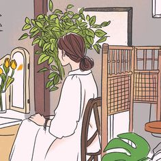 Photo by ARI / nano project / ari attic on August Korean Illustration, Cute Illustration, Kawaii Doodles, Cartoon Girl Drawing, Guache, Korean Art, Cartoon Art Styles, Cute Cartoon Wallpapers, Illustrations