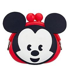 Mickey Mouse MXYZ Pouch | Disney Store Let Mickey Mouse keep track of all your tiny little things in this MXYZ-style pouch featuring kiss lock closure and funky fun 3D ears. Mickey Mouse Room, Disney Purse, Disney Merchandise, Disneyland, Purses And Bags, Disney Characters, Fictional Characters, Pouch, Costumes