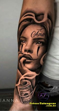 Forarm Tattoos, Dope Tattoos, Forearm Tattoo Men, Tattos, Girl Face Tattoo, Girl Arm Tattoos, Hand Tattoos, Chicano Style Tattoo, Chicano Tattoos