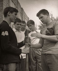 Teen Boys, 1945         Next to girls, teenage boys like sports, a usual Saturday afternoon past-time.