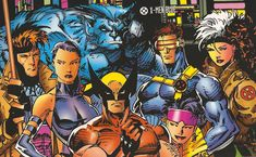 X-Men (Blue Team) ~ pencils by Jim Lee This is the X-Men I grew up with.