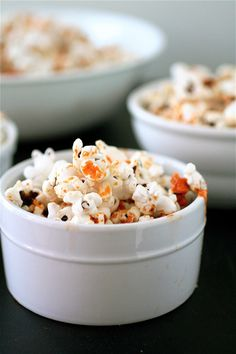 Sriracha Ranch Popcorn recipe. (Please put this in my face. Thanks.)