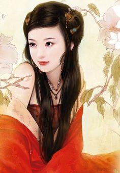 chinese painting girls