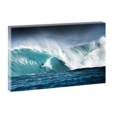 Surfing -Bild von Querfarben Wellen  Meer Strand Poster Leinwand 100cm*65cm548