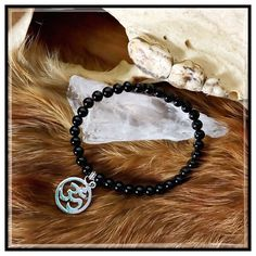 Jean Claude Ohm Black Onyx Bead Bracelet