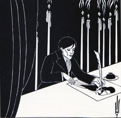 Aubrey Beardsley, Autorretrato