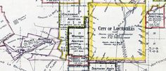 #Map of territory annexed to #LosAngeles, #California 1781-1916
