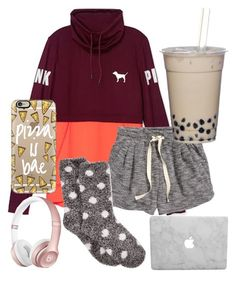 Being a lazy bum by jadenriley21 on Polyvore featuring Victoria's Secret, H&M, Charter Club and Casetify