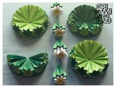 origami venus kusudama cactus assembly - origami around