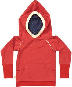 Albababy soft red hooded sweater with flower print. albababy.en.emilea.be