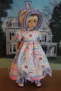 """13"""" Effner's Little Darling's """"SUMMER TULIP"""" Regency Gown Ensemble #DiannaEffner"""