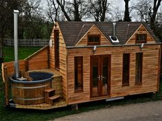 Relaxation to Go: Tiny House on Wheels Has a Built-In Hot Tub