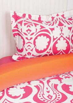 Love the pink bedding.