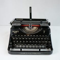Hermes Media Typewriter (1941) For Sale - My Cup Of Retro Typewriters Modern Typewriter, Working Typewriter, Antique Typewriter, Portable Typewriter, Vintage Typewriters, I Cup, Old Ones, Black Ribbon, Christmas Presents
